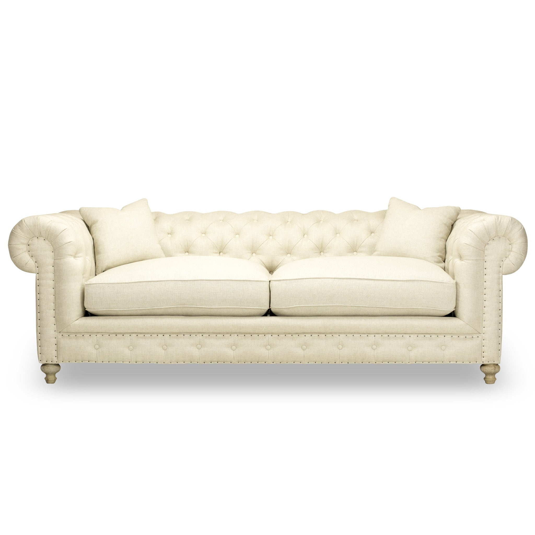 GREENWICH TUFTED SOFA Natural Ecru
