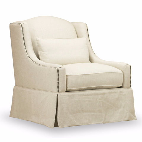 Halston Swivel Chair - Natural Ecru