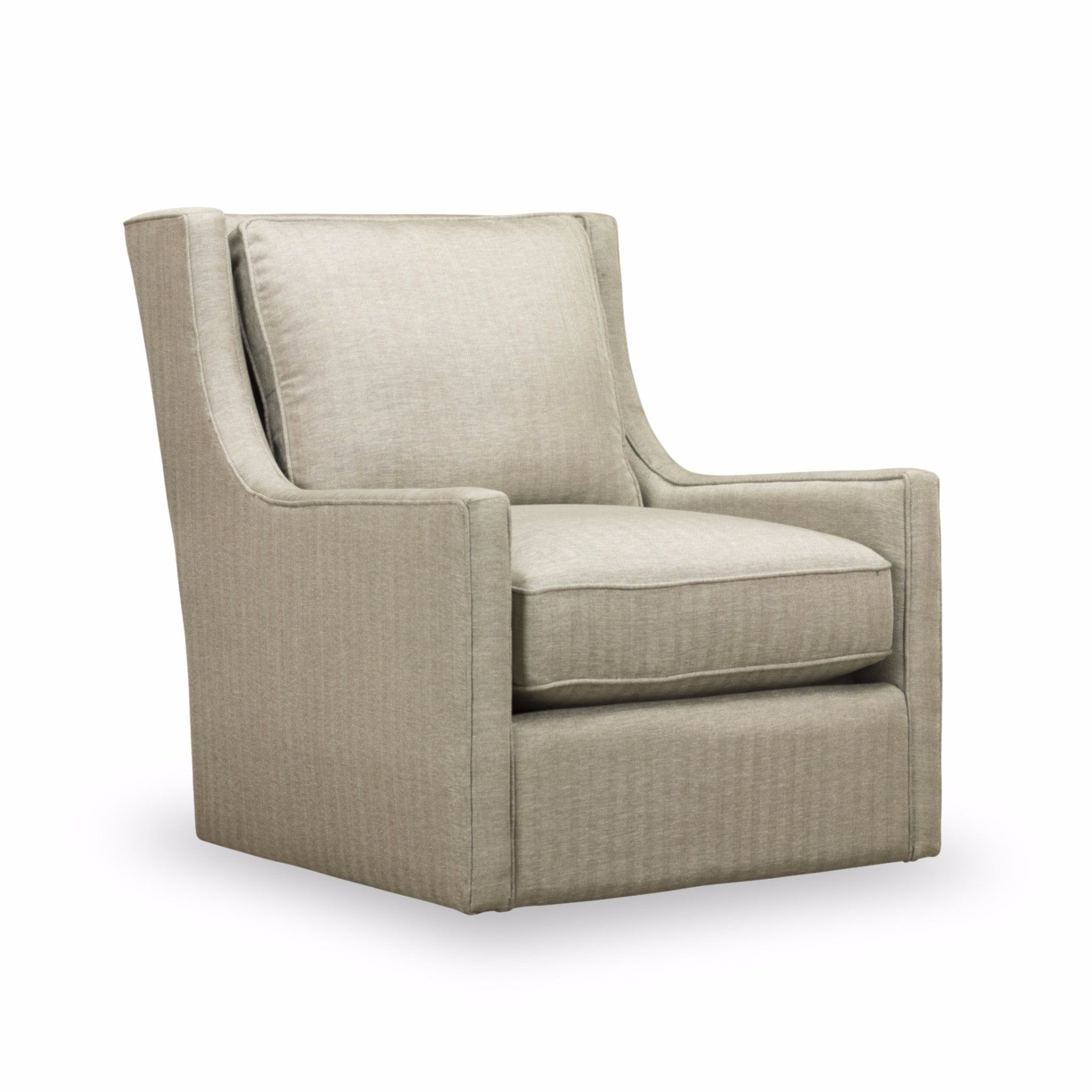 Hugo Swivel Chair - Silver Herringbone