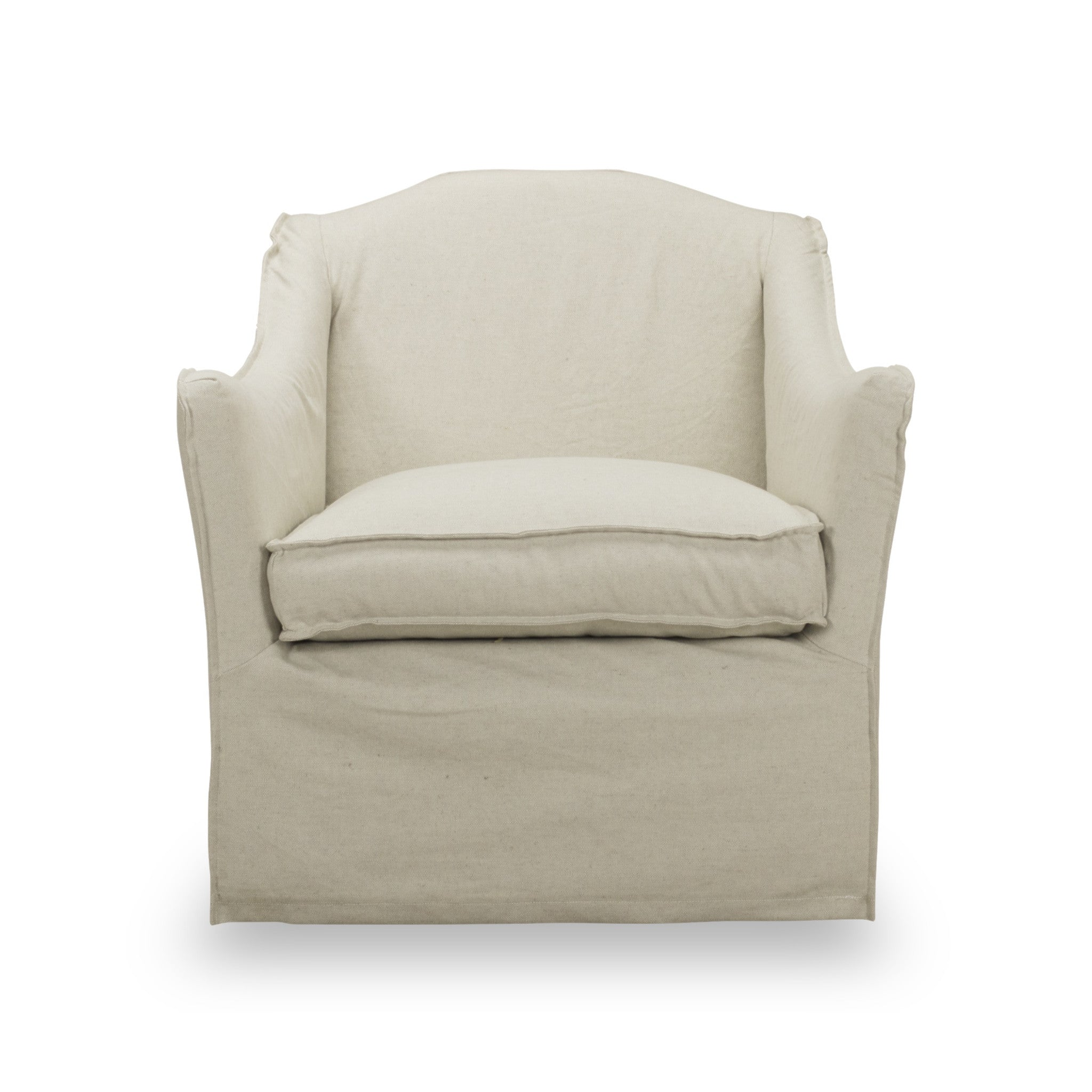 ... Keith Slip Cover Swivel Chair In Linen ...