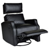 SIDNEY SWIVEL ROCKER RECLINER - Royal Black