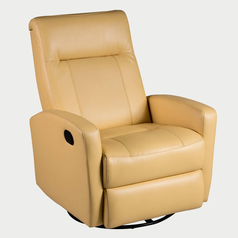 STEFAN SWIVEL GLIDER RECLINER - Diego Yellow