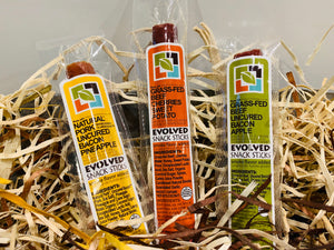 Healthy Meat Snack - Variety Pack - (All 3 Flavors) - Evolved Snack Sticks
