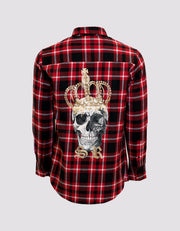 Plaid Shirt - Royalty Skull Edition