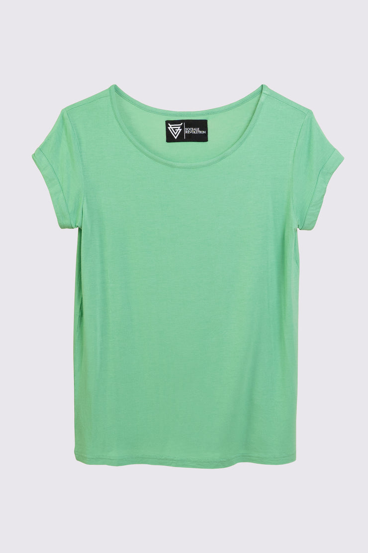 The Scoop Tee for Her in Biscay Green