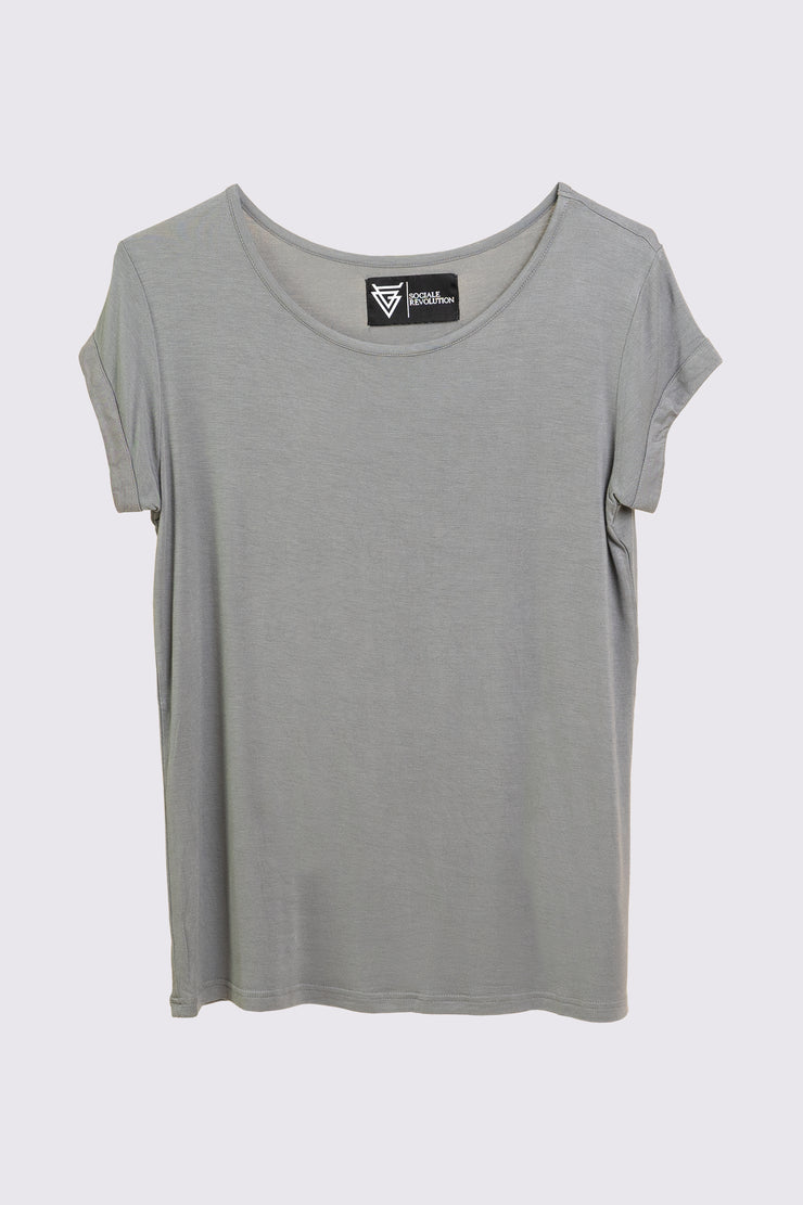 The Scoop Tee for Her in Grey