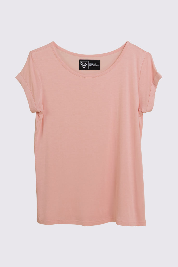 The Scoop Tee for Her in Pink