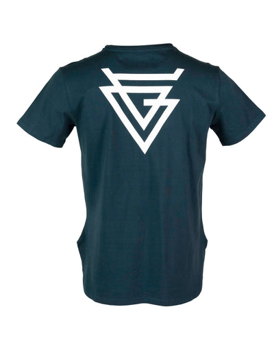 SUSTAINABLE CUT N' ROLL BLUE SR LOGO TEES