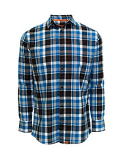 Blue Midweight Plaid Shirt