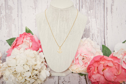 Stay Anchored Necklace - Gold - Lindsay Tia