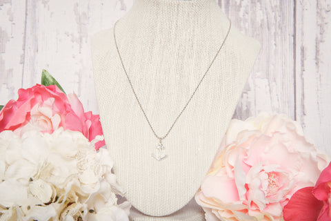 Stay Anchored Necklace - Silver - Lindsay Tia