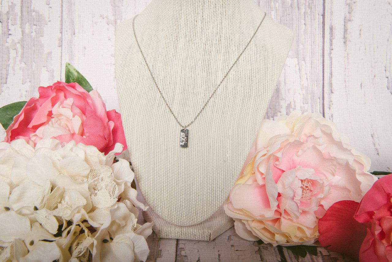 Silver Dog Tag Necklace - Lindsay Tia