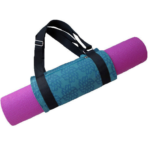 Silk Screen Printed Yoga Mat Carrier - KinShop Ethical Trading   - 1