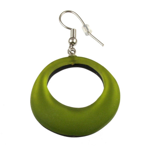 Irregular Rings Earrings-Olive
