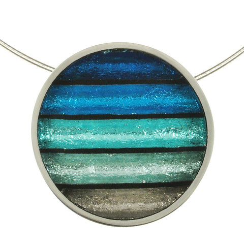 Circle Stripe Necklace- Turquoise