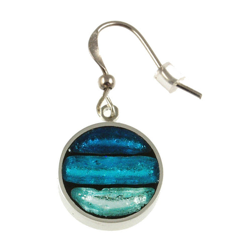 Circle Stripe Earrings- Turquoise