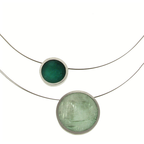 Two-Strand Circle Necklace-Misty Jade/Deep Jungle