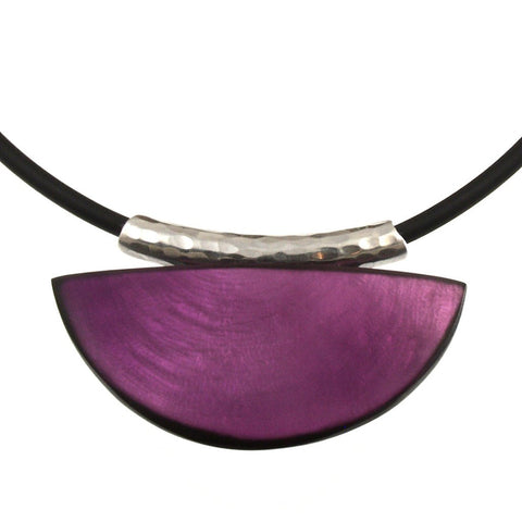 Fan Necklace-Bright Violet