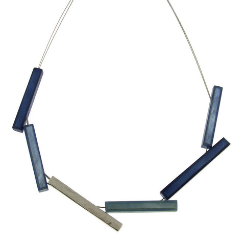 Indigo Sticks Necklace
