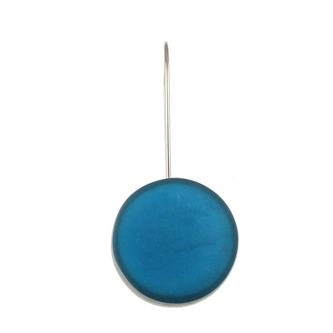 Resin Disc Earring-Aquarius