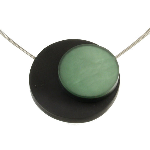 Orbital Magnetic Pendant- Estate Blue and Forest Granite