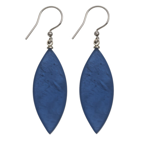 Leaf Earrings- Allure Blue