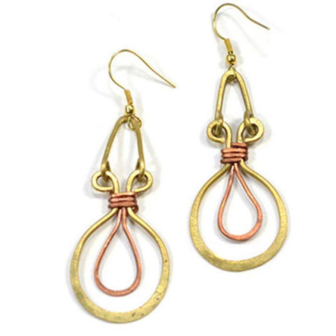 Ankh Upwire Earrings - KinShop Ethical Trading