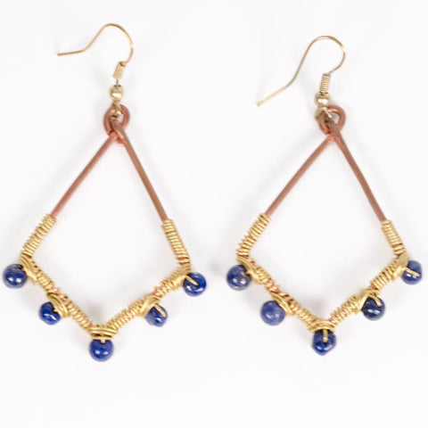 Blue Diamond Earrings - KinShop Ethical Trading   - 1