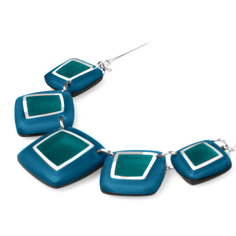 Squares Necklace- Turquoise