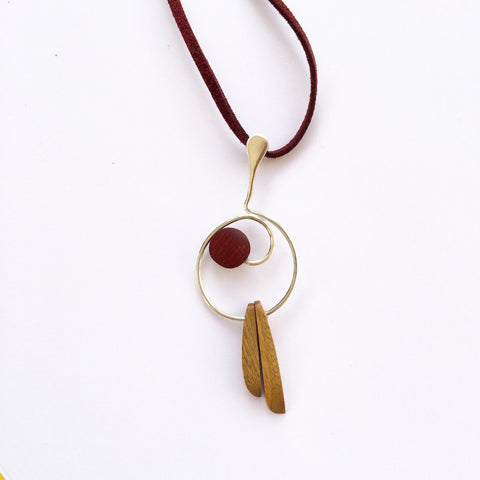Yavaliwen Reclaimed Wood Necklace - KinShop Ethical Trading   - 1