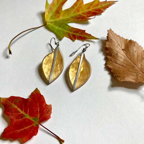 Leaf Earrings- Golden