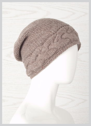 Laundromat Twisted Beanie-Pebble