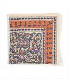 Purple Floral Block Printed Cloth Napkins - KinShop Ethical Trading   - 1