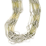 Striped Strand Bead Necklace - KinShop Ethical Trading   - 1