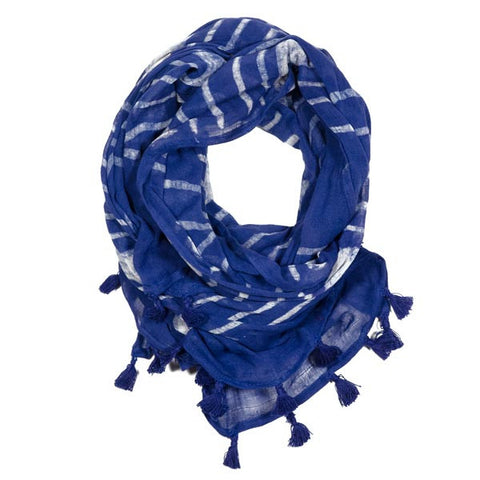 Blue Serge Gatsby Scarf - KinShop Ethical Trading   - 1