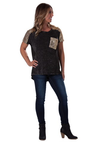 Sparkle and Shine Piko - Black and Gold