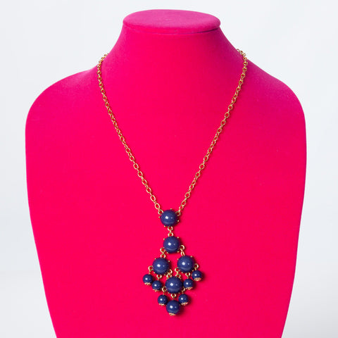 Long Necklace - Navy
