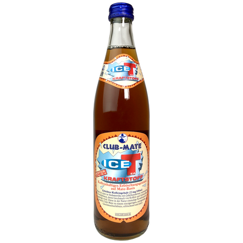 Club-Mate ICE-T Kraftstoff - 12 Pack (16.9 oz Glass Bottles)