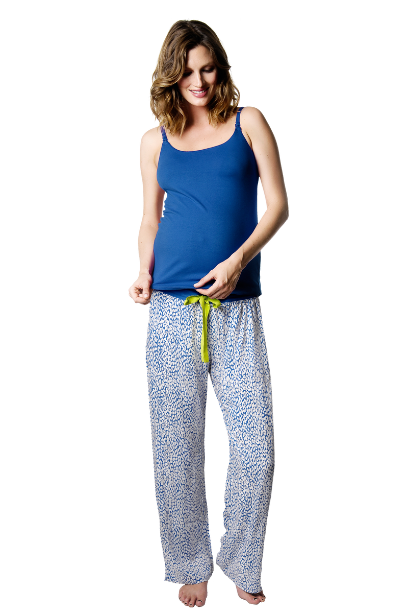 HOTMILK UNTAMED PANTS WITH MATCHING MY EVERYDAY CAMI BLUE