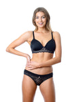 HOTMILK CAPTIVATION JET BLACK CONTOUR PLUNGE NURSING BREASTFEEDING PREGNANCY BRA - WIREFREE