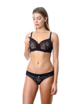 TEMPTATION BLACK NURSING BRA - FLEXI UNDERWIRE