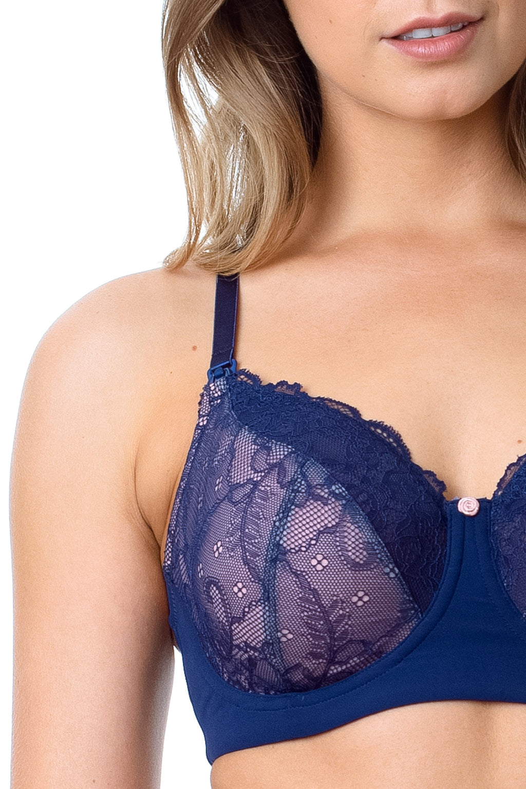 hotmilk temptation navy nursing bra