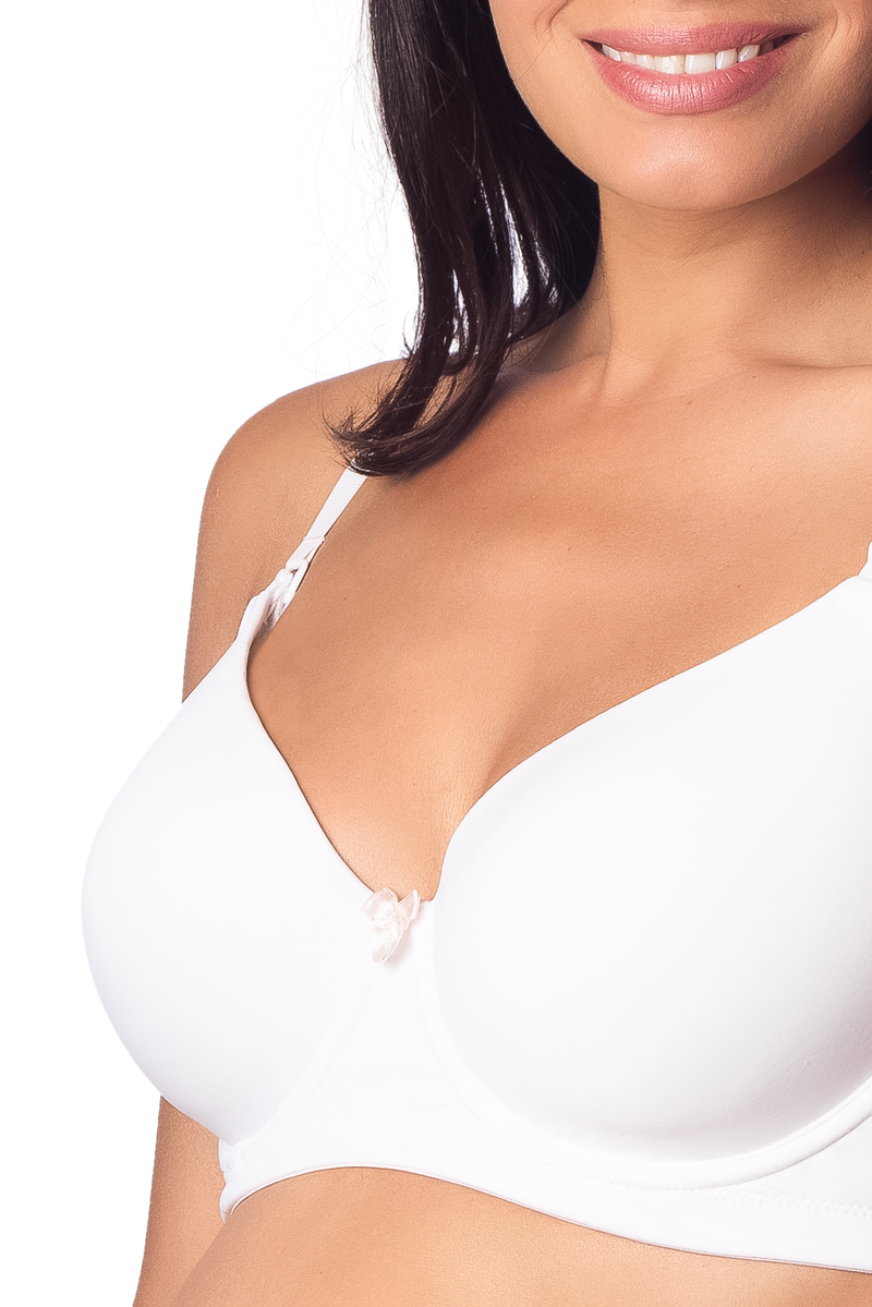 HOTMILK FOREVER YOURS WHITE FLEXIWIRE NURSING BRA