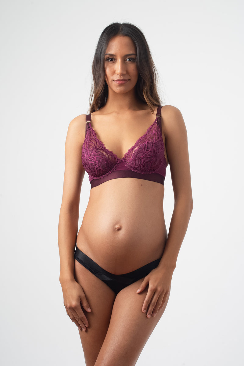 warrior amethyst nursing bra and black bikini by Projectme