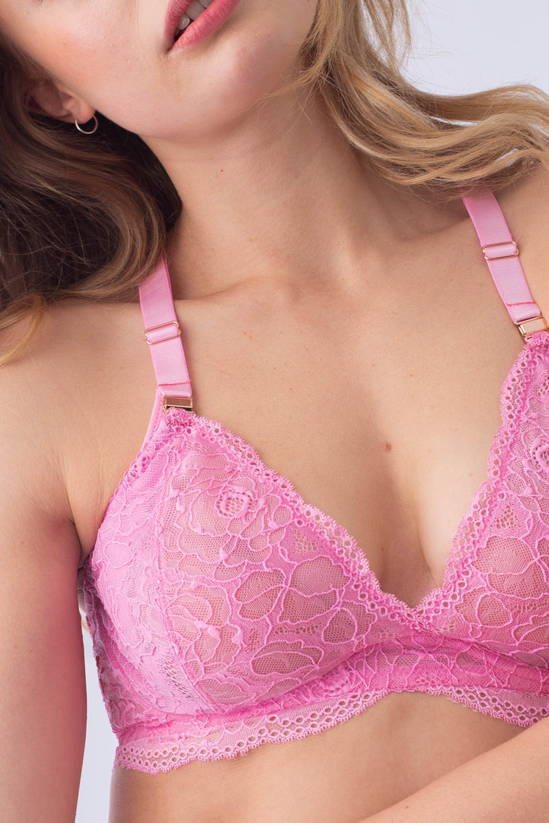 heroine pink plunge projectme nursing and maternity bra