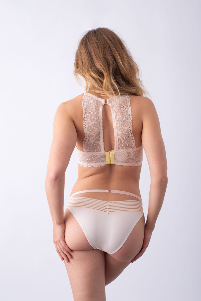 HEROINE PLUNGE LACE BACK SHELL LEMONADE NURSING BRA - FLEXI UNDERWIRE