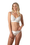 HOTMILK WARRIOR IVORY SOFT CUP PREGNANCY BREASTFEEDING NURSING BRA - WIREFREE WITH WARRIOR BIKINI