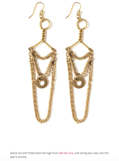 BUST Magazine Holiday Accessories Marie Earrings