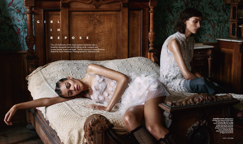 Vogue Australia April 2018 Girl in Repose