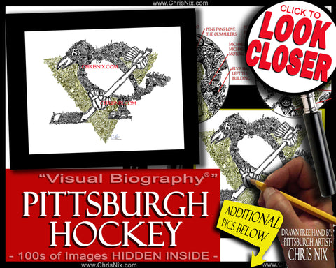"""Pittsburgh Hockey"" - print"
